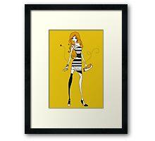 Bee Dress Framed Print