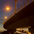 Tauranga Harbour Bridge at night 4 by Paul Mercer
