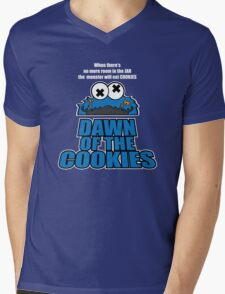 Daawn of the Cookies Mens V-Neck T-Shirt