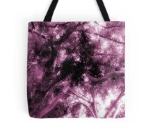 Study in Light and Dark – A Canopy of Branches in Pink  Tote Bag