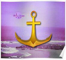 Purple Ocean & Sky Anchor Poster