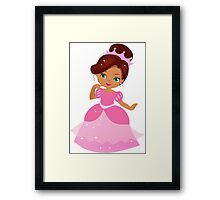 African American Beautiful Princess in a pink dress Framed Print