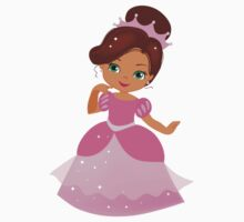 African American Beautiful Princess in a pink dress Kids Clothes