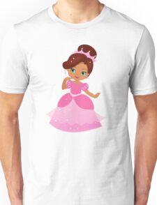 African American Beautiful Princess in a pink dress Unisex T-Shirt