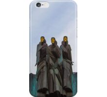 Lithuania. Vilnius. National Drama Theater. Sculptures. iPhone Case/Skin