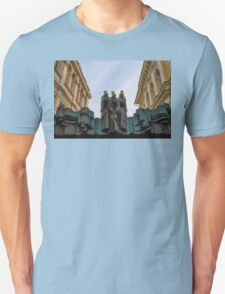 Lithuania. Vilnius. National Drama Theater. Sculptures. Unisex T-Shirt