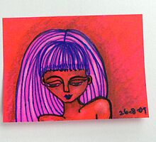 Tiny Diary: Hot Pink by littlearty