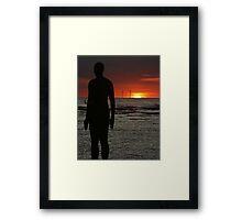Sunset Gormley Framed Print