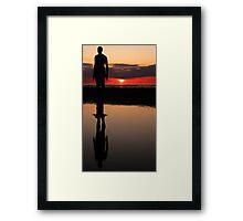Gormley sunset reflection Framed Print