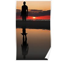 Gormley sunset reflection Poster