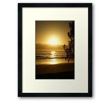 Morning Raise Framed Print