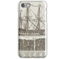 Ship of War Naval Print iPhone Case/Skin