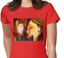 Two Heads, One Heart Womens Fitted T-Shirt