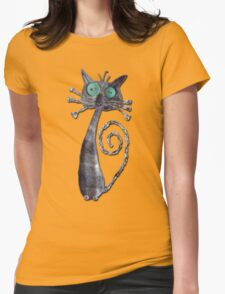 Quirky Cat  Fabric Art T-Shirt