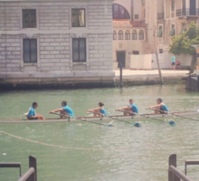Rowing on the Grand Canal Sticker