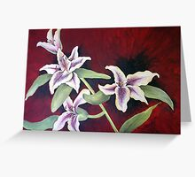 oriental lilies... Greeting Card