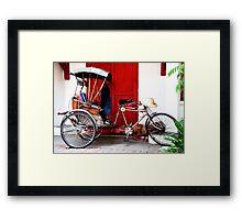 Pedicab, Chiang Mai, Thailand Framed Print