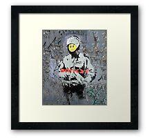 Banksy Smile Cop  Framed Print