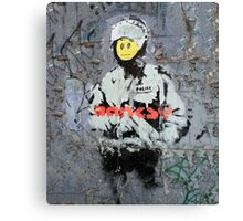 Banksy Smile Cop  Canvas Print