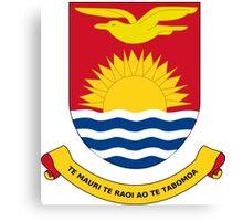 Kiribati Coat of Arms Canvas Print