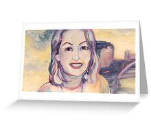 Happy Portrait Greeting Card