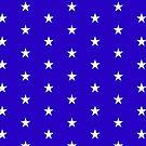 Wonder Stars on Blue by ChristaJNewman