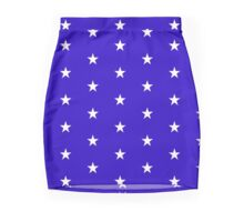 Wonder Stars on Blue Mini Skirt