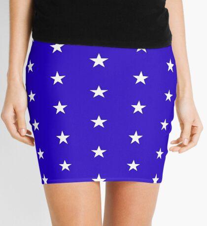 Wonder Stars on Blue Mini Skirt