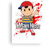 I Main Ness - Super Smash Bros. Canvas Print