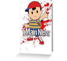 I Main Ness - Super Smash Bros. Greeting Card