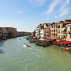 Grand Canal from Ponte di Rialto, Venice by bevanimage
