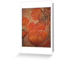 La Splendour Florale Du Pavot Greeting Card