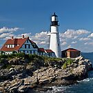 Portland Head Light - Maine by Kathy Weaver