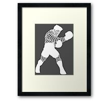Smash WireMacWhite Framed Print