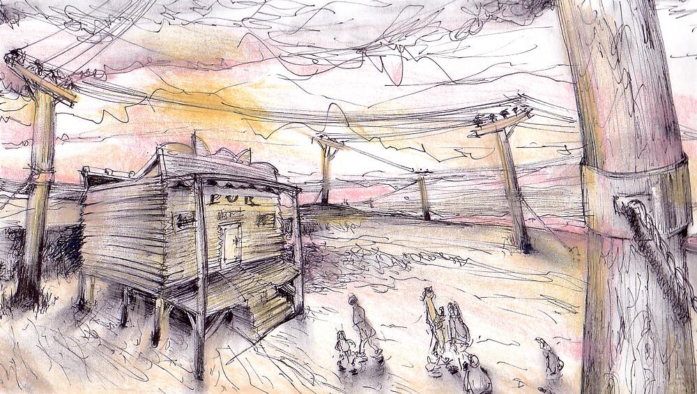 Outback pub             2darts,  by Ian Farnbach
