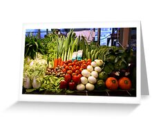 Vegetables, Chiang Mai, Thailand Greeting Card