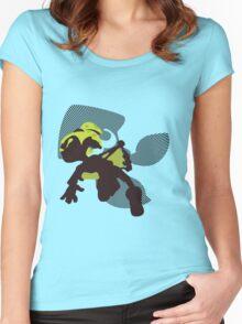 Light Green Male Inkling - Splatoon Women's Fitted Scoop T-Shirt