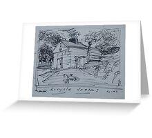 Bicycle Dreams        2darts,  Greeting Card