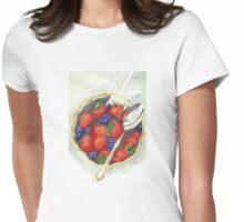 Berries and Cream Womens Fitted T-Shirt