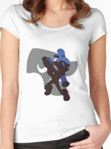 Dark Blue Male Inkling - Sunset Shores Women's Fitted Scoop T-Shirt