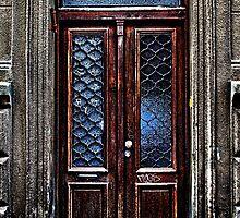 The Old Brown Door Fine Art Print by stockfineart