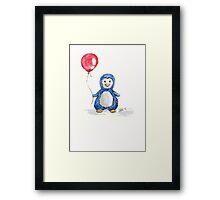 Puddle penguin Framed Print