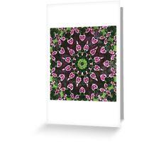 Rosas Moradas 2 Kaleidoscope 8 Greeting Card