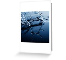 Water Drop Photography - Water in Time - Self Reflection Greeting Card