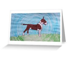 Bull terrier awe Greeting Card