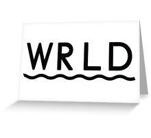 WRLD Greeting Card