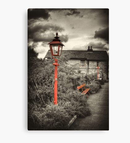 By the Gas Light - Levisham Station Canvas Print
