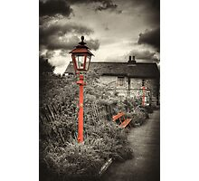 By the Gas Light - Levisham Station Photographic Print
