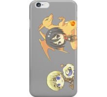 pokemon attack on titan charizard mikasa armin mareep chibi anime shirt iPhone Case/Skin