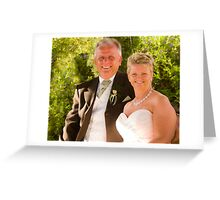 The bride and groom Greeting Card